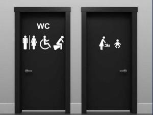 Autocolante WC Sinalização 6 símbolos