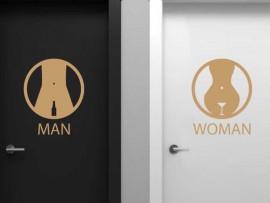 Autocolante WC Man & Women Bar