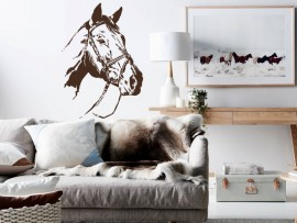 autocolante vinil cabeça de cavalo