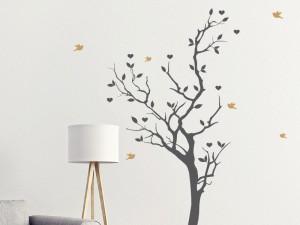 Autocolante Árvore Pássaros