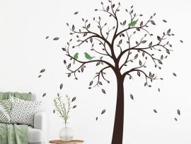 Autocolante Árvore pássaros 5