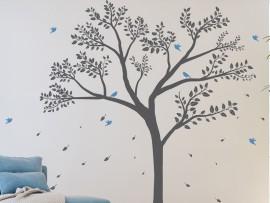 Autocolante Árvore Pássaros 7