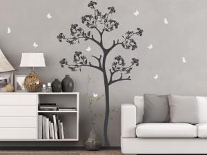 Autocolante Árvore Florale Borboletas