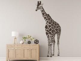 autocolante vinil girafa