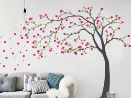 Autocolante Árvore Flores do Outono 3
