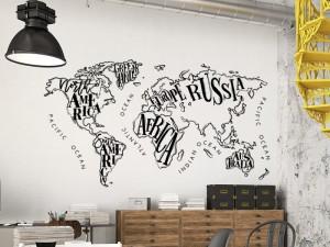 Autocolante Mapa do mundo Vintage