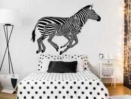 autocolante vinil zebras savana