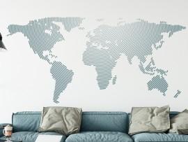 Autocolante Mapa do mundo Circular