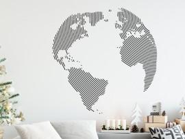 Autocolante Mapa do mundo Globo Circular