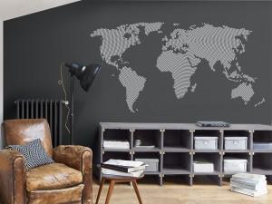 Autocolante Mapa do mundo Radial Ilusão