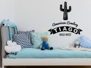 Autocolante Cowboy Cactus Wild West