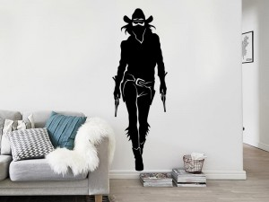 Autocolante Cowgirl Silhueta