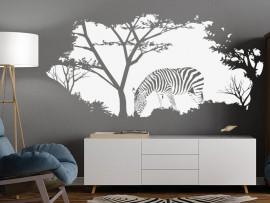 Autocolante Paisagem Africa Zebra