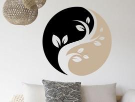 Autocolante Yin-Yang Floral 3