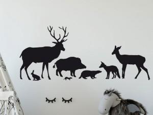Autocolante Animais da floresta e da Caça