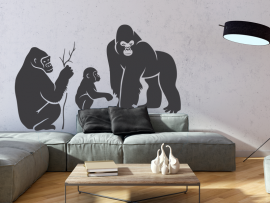 Autocolante Família de Gorilas