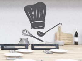 autocolante vinil toque de chefe cozinha