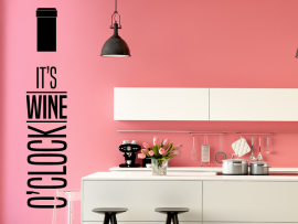 autocolante vinil hora do vinho cozinha