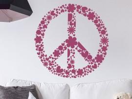 Autocolante Símbolo de Paz e Amor Floral