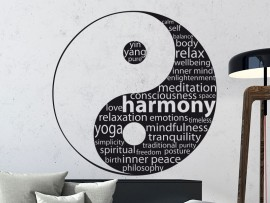 Autocolante Yin-Yang Texto