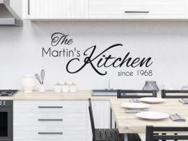 autocolante vinil texto cozinha personalizado