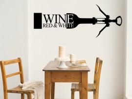 autocolante vinil vinho saca rolhas