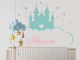 Autocolante Castelo de Princesa Personalizável