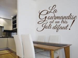 Sticker Texte cuisine Gourmandise