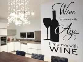 autocolante vinil texto vinho cozinha