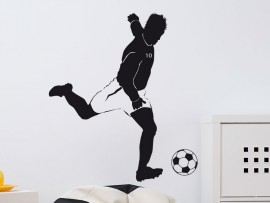 Autocolante Jogador de Futebol Atacante