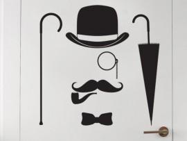 Autocolante Gentleman
