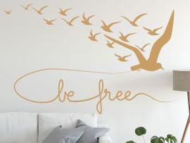 Autocolante Pássaros Be free