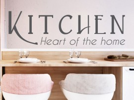 Autocolante Kitchen Heart of the home