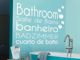 Autocolante Casa de Banho Bathroom