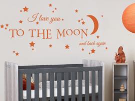autocolante vinil citação i love moon