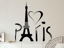 Autocolante Love Paris