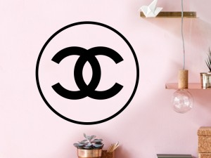 Autocolante Chanel Redondo Logo