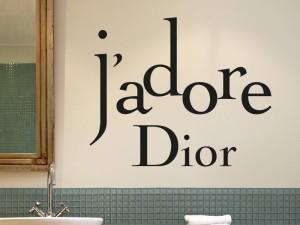 Autocolante J'adore Dior
