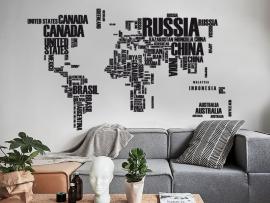 autocolante vinil mapa mundo cartografia mapas