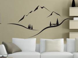 autocolante vinil paisagem montanha
