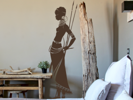 autocolante vinil mulher africana india