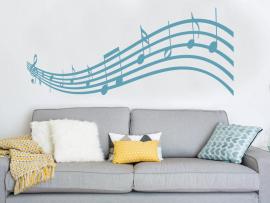 Autocolante vinil pauta musical musica notas musicais