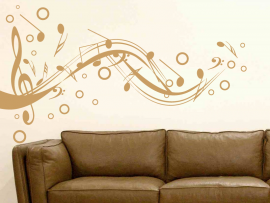 Sticker Partition Musique Design