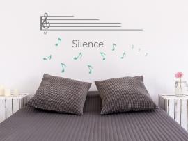 Autocolante Pauta Musical Silencio
