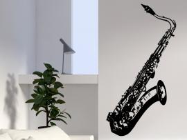 autocolante vinil saxofone musica