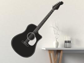 autocolante vinil guitarra classica musica