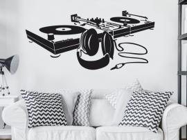 autocolante vinil dj music musica