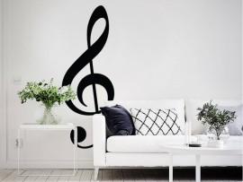 autocolante vinil clave de sol musica nota musical