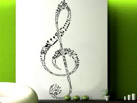 autocolante vinil clave de sol design musica
