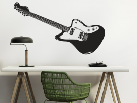 autocolante vinil guitarra eletrica musica